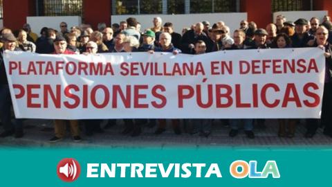 La Plataforma Sevillana en Defensa de las Pensiones Públicas se concentra para pedir pensiones dignas y que se tenga como referencia mínima el IPC
