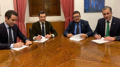 El Partido Popular llega a un acuerdo con Ciudadanos y Vox para investir a Juanma Moreno como presidente andaluz