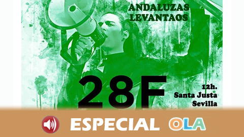 La plataforma Caminando Marchas de la Dignidad se manifiesta en defensa de la autonomía bajo el lema «Andaluzas Levantaos»