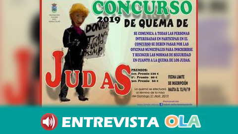 El municipio sevillano de Aznalcóllar celebra una nueva edición de su fiesta satírica de la 'Quema del Judas'