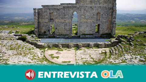 El teatro del yacimiento arqueológico de Acinipo, en Ronda (Málaga), es uno de los mejores conservados de la Hispania Romana