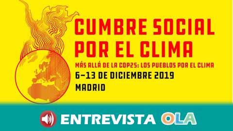 La Cumbre Social por el Clima comienza mañana para dar una respuesta a la cita oficial que da voz a los movimientos y colectivos sociales no representados