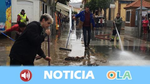 El municipio onubense de Nerva sufre graves inundaciones a causa de la borrasca Elsa