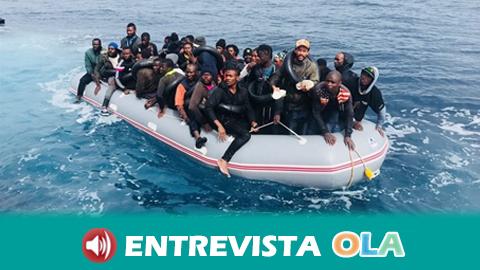 La climatología agrava las condiciones de cansancio y frío en la que las personas migrantes llegan a las costas andaluzas