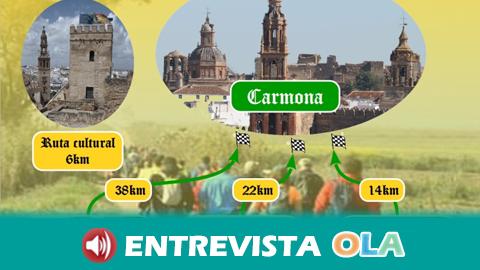 La ruta senderista «El Camino que nos une» pone en valor el patrimonio histórico y natural de Los Alcores, en la provincia sevillana