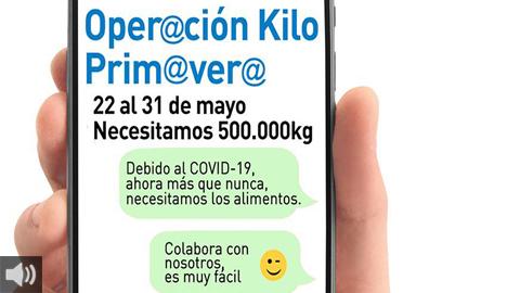 La 'Operación Kilo Primavera' se adapta al formato virtual para seguir aportando solidaridad a los Bancos de Alimentos de Sevilla y Huelva