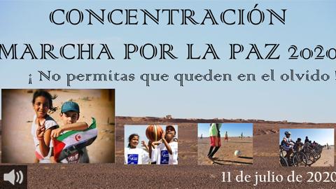 La concentración por la paz 'No permitas que queden en el olvido' implica al movimiento asociativo para que el Sáhara siga teniendo altavoz en Andalucía
