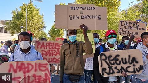 Comienzan las obras del primer alojamiento colectivo para trabajadores y trabajadoras temporeras sin hogar de la provincia de Huelva autogestionado por personas migrantes