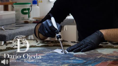 Evitar el contacto deproductos químicos o geles hidroalcohólicos sobre los bienes de valor material ayuda con la preservación del patrimonio andaluz en este contexto de crisis sanitaria
