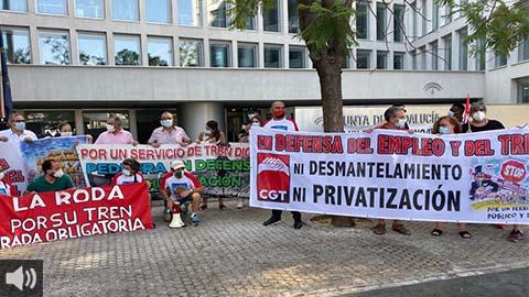 La Plataforma del Tren Rural de Andalucía cumple su primer año de protestas para contener el aislamiento ferroviario que sufren los municipios rurales