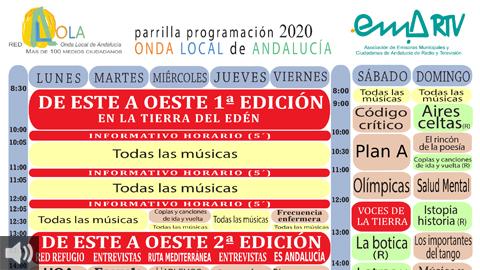 La Onda Local de Andalucía renueva su parrilla con contenidos de servicio público relacionados con la salud, los derechos humanos y el patrimonio andaluz