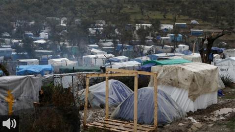Las llamas han destruido entre el 35% y el 40% del campo de personas refugiadas griego en Moria