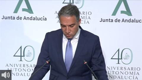 Elías Bendodo: 'Llevaremos los próximos presupuestos andaluces al Consejo de Gobierno la semana que viene'