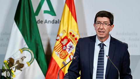 'El sector turístico andaluz espera un crecimiento del 7% para el año que viene', Juan Marín, vicepresidente de la Junta de Andalucía y consejero de Turismo, Regeneración, Justicia y Administración Local