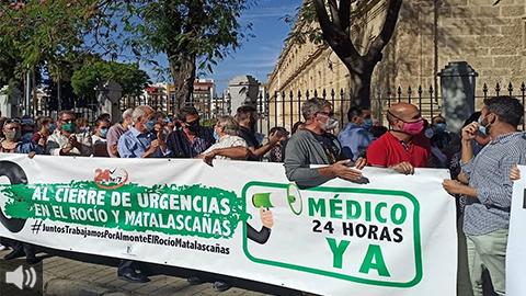Varios municipios se concentran por la merma de la calidad asistencial de la sanidad pública andaluza
