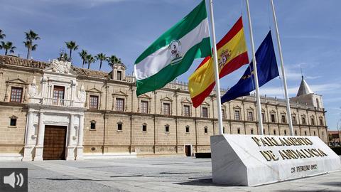 Primera toma del Debate sobre el Estado de la Comunidad en el Parlamento de Andalucía
