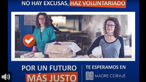 Madre Coraje necesita personas voluntarias para recuperar el ritmo de su actividad por la crisis del Covid-19