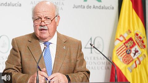 Jesús Aguirre: 'La tasa de positividad en las pruebas diagnósticas es del 30% en Andalucía, el doble que la nacional'
