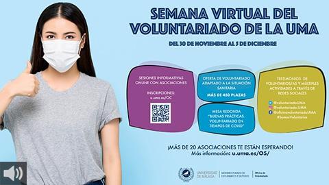 La Semana del Voluntariado se celebra en la Universidad de Málaga en formato virtual dándole relevancia a la crisis sanitaria