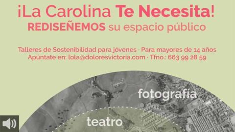 """Jóvenes diseñan La Carolina en """"Pueblos Sii!"""" con el objetivo de pasar a la acción con la plantación de cuatro árboles"""
