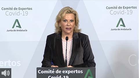 'Andalucía vive una situación francamente grave', Inmaculada Salcedo, portavoz del Comité de Expertos de la Junta de Andalucía
