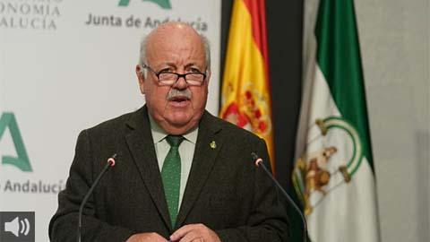 'Apreciamos cierta estabilización de contagios en Andalucía', Jesús Aguirre, consejero de Salud y Familias