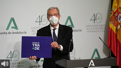 'Andalucía TRADE favorecerá que el tejido productivo sea más robusto y esté mejor conectado', Rogelio Velasco, consejero de Transformación Económica