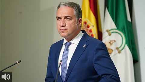 'Hoy mismo hemos desbloqueado la mitad del importe del acuerdo firmado ayer con los agentes sociales', Elías Bendodo, portavoz del Gobierno autonómico