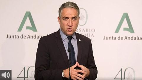'Aprobamos un nuevo paquete de ayudas directas por valor de 137,6 millones para el comercio minorista, la hostelería y las agencias de viajes', Elías Bendodo, portavoz del Gobierno autonómico