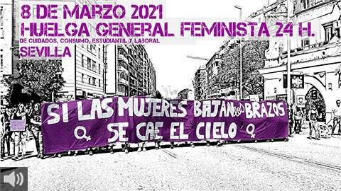 'El peso de los cuidados y la precariedad sobre las mujeres se ha duplicado, de ahí el refuerzo de los grupos de ayuda mutua', Rosaria Sessa, Asamblea Feminismos Diversos 8M Sevilla