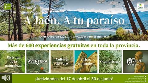 La provincia de Jaén ofrece multitud de actividades turísticas gratuitas para redescubir sus encantos medioambientales, históricos y culturales