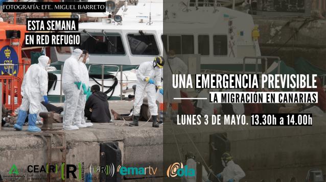 Esta semana en Red Refugio tratamos el problema migratorio previsible que están viviendo las Islas Canarias