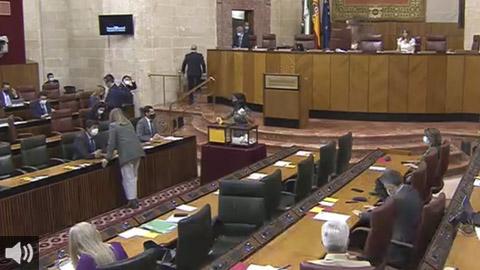 La sesión de control al Gobierno andaluz este jueves en la Cámara Autonómica ha tenido como protagonista la situación generada tras la caída del Estado de Alarma