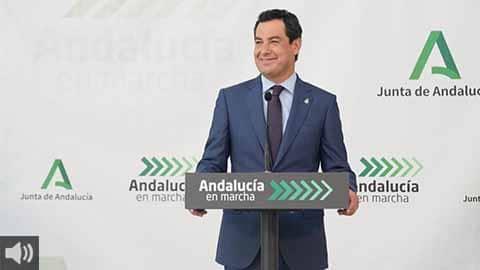 'Andalucía será la primera eurorregión en tener el certificado de vacunación COVID con validez europea', Juan Manuel Moreno, presidente de la Junta