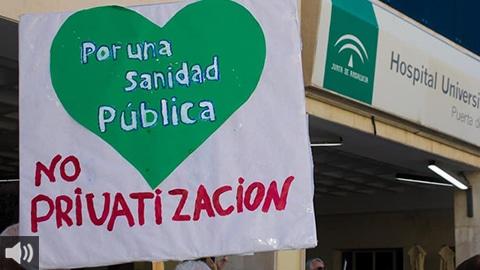 La Mesa en Defensa de la Sanidad Pública de Granada y la Coordinadora Andaluza de Mareas Blancas convocan a nivel andaluz concentraciones y manifestaciones por la atención primaria