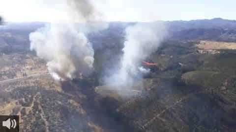 Los afectados por el incendio de Almonaster la Real, en Huelva, denuncian el abandono administrativo tras el grave incendio de hace un año