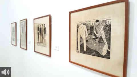 La Diputación de Sevilla ofrece en la Casa de la Provincia la muestra 'Cristóbal. Exposición Antológica', en homenaje al pintor Cristóbal Aguilar