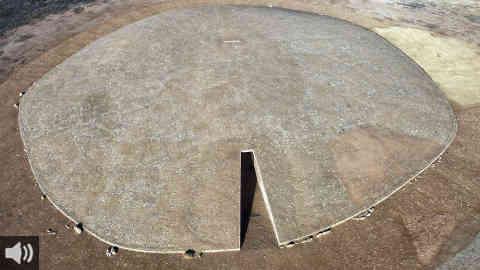 El conjunto megalítico El Dolmen de Soto de Trigueros se inunda de Sol con la llegada del equinoccio de Otoño