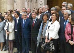 Grupo socialista en la constitución del Parlamento andaluz en su IX Legislatura