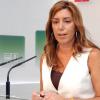 Susana Díaz convencida de que, en las próximas horas, PSOE e IU van a alcanzar un acuerdo de gobernabilidad