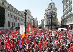 Los sindicatos muestran su satisfacción por la respuesta ciudadana en las movilizaciones del primero de mayo