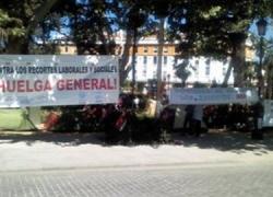 Los sindicatos mantienen sus acciones de protesta contra el plan de ajuste andaluz