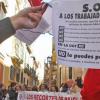 Trabajadores de UGT-Andalucía se concentran a las puertas del sindicato en protesta contra el ERE y los despidos directos