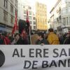 Los trabajadores de Bankia en Andalucía protestan en Sevilla, Málaga y Granada ante la reestructuración que temen que va a llevar a cabo la entidad bancaria