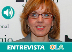 «Consumir productos de nuestra tierra asegura el mantenimiento de la red de pequeñas producciones artesanas». Maria Angustias Velasco (Dip. Jaén)