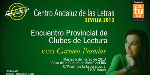 El Centro Andaluz de las Letras  organiza un encuentro de clubes de lectura de la provincia de Sevilla en la localidad de Alcalá del Río