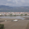 La localidad granadina de Huétor Tájar se encuentra casi aislada a causa de la crecida del río Genil