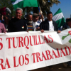 Desalojan la finca 'Las Turquillas', propiedad del Ministerio de Defensa, ocupada desde el miércoles por unos 200 integrantes del Sindicato Andaluz de Trabajadores