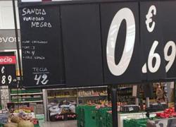COAG-Andalucía denuncia que la red de supermercados Carrefour publicita la sandía negra como reclamo vendiéndola por debajo de su coste en origen
