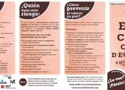 La prevención y el diagnóstico precoz son los dos elementos claves para evitar la propagación del cáncer de piel